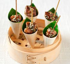 Fingerfood ideas canapes on pinterest seared tuna for Asian canape ideas