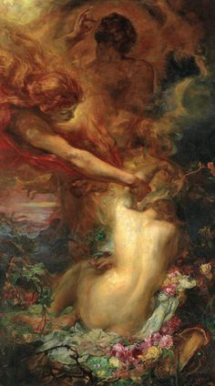 The Uplifting of Psyche by Henry John Stock (British, 1853-1930)