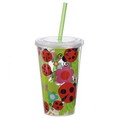 This would be perfect for street parties! Lady Bugs 16oz Insulated Tumbler with Straw - Boston Warehouse: Lady Bug Garden - Events