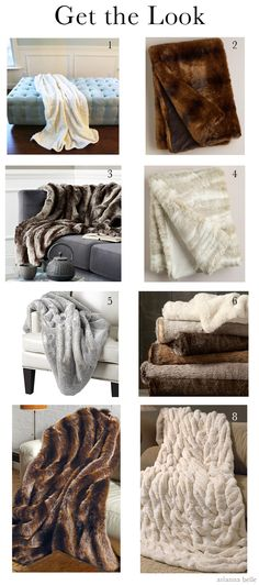 Get the Look: (Faux) Fur Throws and Blankets
