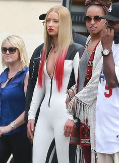 Red—Iggy Azalea - The Celebrity Hair Rainbow - StyleBistro