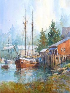 Ian Ramsay Watercolors: Puget Sound
