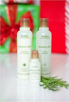 Aveda rosemary mint shampoo, conditioner and lotion