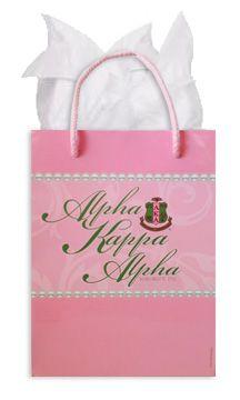 Alpha Kappa Alpha gift bag