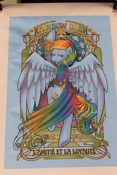art nouveau Rainbow dash-WonderCon 2012 by Loren Javier, via Flickr