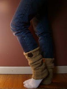 Sweater leg warmers