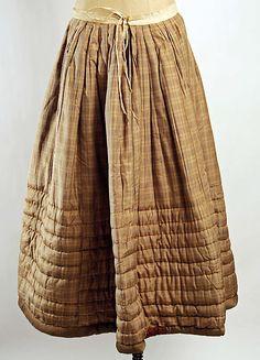 Petticoat Date: ca. 1850 Culture: American Medium: silk, cotton