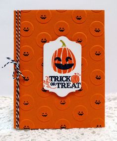 Stampin' Up! Fall Fest, Holiday Home, Holiday Best, Pumpkins handmade Halloween card