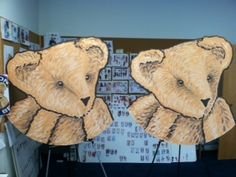 Getting ready to make a new sign for the Vermont Teddy Bear Factory in Shelburne, VT