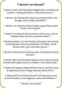 I declare - I am blessed In Jesus Name Amen