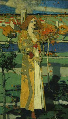 St. Agnes, by David Gauld (1865-1936)