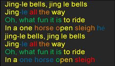 Boomwacker-song  Jingle BELLS >>> Pre-CLAP the rhythm with kids. ( dotted or straight ... )