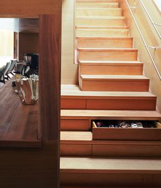 stairs, each of which contains a drawer...  <3   Dwell