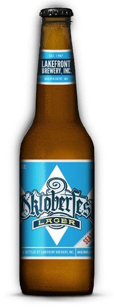 Lakefront Oktoberfest. Marzen-style lager, caramel malt body .