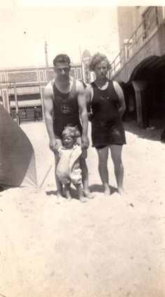 """A photo of Oscar Philibert and Lillie Chatham. Credit: Gena Philibert-Ortega. Read more on the GenealogyBank blog: """"Great-Grandmother's Swimsuit in Vintage Fashion Articles & Photos."""" http://blog.genealogybank.com/great-grandmothers-swimsuit-in-vintage-fashion-articles-photos.html"""