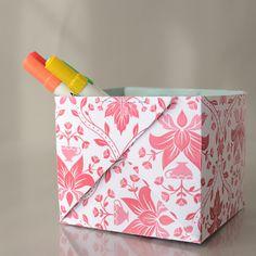 sewn paper boxes tutorial by @Melissa Esplin
