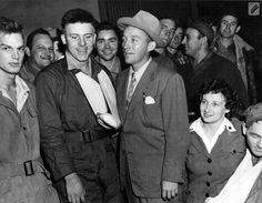 Bing Crosby visits with wounded servicemen while at Ridgewell, 9/2/44.