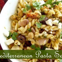 Mediterranean pasta salad : Perfect for summer picnics or your BBQ parties Recipe | Just A Pinch Recipes
