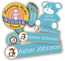 NAME BUBBLES  Absolutely love these labels! They stay in place no matter how many trips through the washing machine. Super cute with custom colors and icons. Has made going to daycare and Kindergarten very easy. Great low price and free shipping.