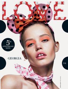 Georgia May Jagger para LOVE Magazine, Fall Winter 2013-2