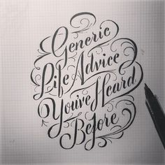 Typeverything.com Generic Life Advice You've Heard Before... #typography