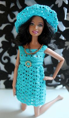 Crochet doll dress and hat   Flickr - Photo Sharing!