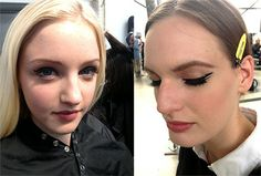 The Dior Cruise 2015 show's backstage beauty report: Makeup artist Peter Philips created a gorgeous, classic black-liner look that's perfect for a summer vacation