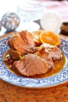 Solomillo con salsa de naranja, receta de Navidad