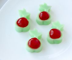 Cherry Pistachio Pudding Shots