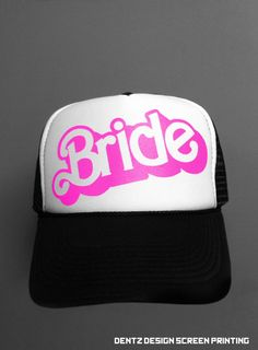 I don't wear trucker hats but I kinda love the Barbie font...if it was on a shirt or something.