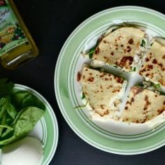 Spinach and goat cheese quesadillas