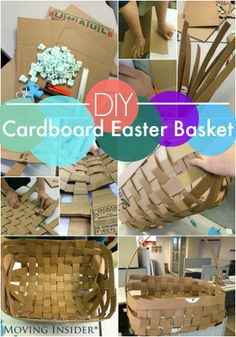 #Easter is right around the corner. Before you go hunting for eggs, try making this #diy cardboard #easterbasket!