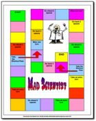 Free Mad Scientist Vocabulary Review game - great for literacy centers and can be used with any set of words!