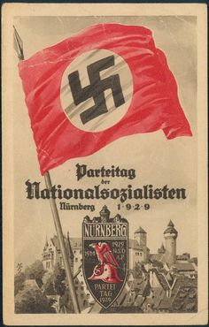 3rd Reich Germany 1929 Reichsparteitag Party Rally Propaganda Card