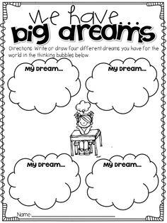 MLK Dream Writing Activity