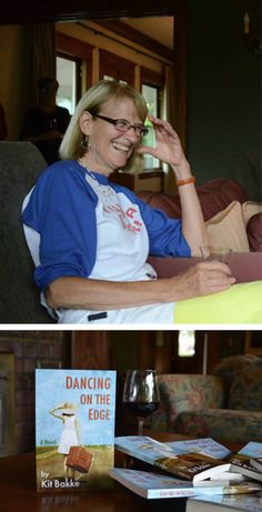 Kit Bakke has a small launch for DANCING ON THE EDGE. (Photo by Annie Brule who also did the cover of this book!)