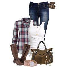 Casual Outfit - I've been itching for a flannel shirt... :)