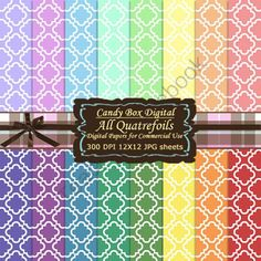 Quatrefoil Moroccan Tile Digital Background Papers from Candy Box Digital on TeachersNotebook.com -  (16 pages)  - These are sixteen quatrefoil digital papers in a rainbow of colors.