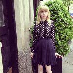 Schoolgirl @orla_kiely skirt - via @FashionSheSays