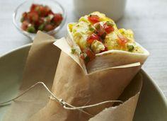 Microwave Egg & Cheese Breakfast Burrito