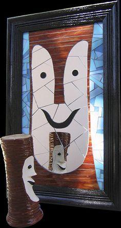 Velvet Glass Tiki Mosaics - The Tiki Bob Mirror