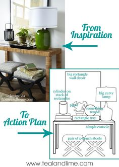 Interior Styling: From Inspiration to Action - turn your magazine and pinterest photo ideas into plans for your home decor || TealandLime.com