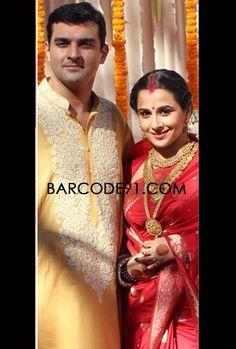 Vidya Balan in red saree.
