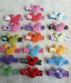 Minnie Mouse Barrettes