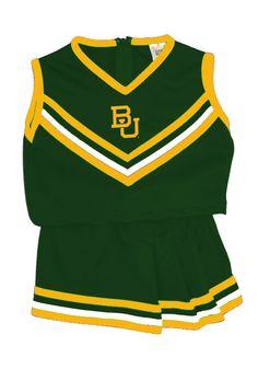 HALLOWEEN COSTUME: Baylor Bears Kids Cheer Set - Green Baylor Bears  Logo Cheer Outfit http://www.rallyhouse.com/shop/baylor-bears-baylor-bears-cheer-youth-1216-green-mascot-cheer-set-318057 $39.99