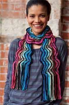 A beautiful knit scarf: ColorPlay  by Kristin Omdahl, As Seen on Knitting Daily TV Episode.