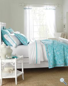 Bright Lilly Pulitzer Bedding for a beach house or summer lake house!