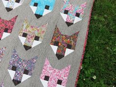 Fancy Fox Quilt. Love the Liberty