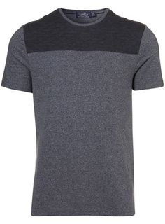 Navy Cut And Sew Quilted Tee topman.com
