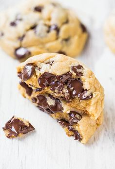 Perfectly Soft Chocolate Chip Cookies -- this  recipe makes the chewiest cookies.